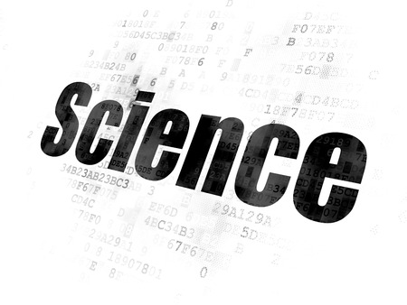 pixelated: Science concept: Pixelated black text Science on Digital background Stock Photo
