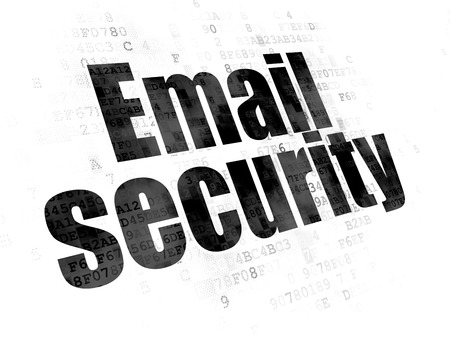 email security: Privacy concept: Pixelated black text Email Security on Digital background Stock Photo