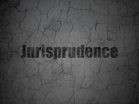 jurisprudencia: Concepto de la ley: Jurisprudencia Negro en grunge textura de fondo muro de hormigón