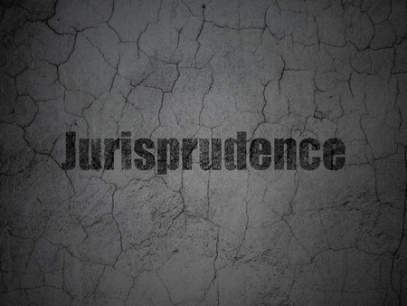 jurisprudencia: Law concept: Black Jurisprudence on grunge textured concrete wall background Foto de archivo