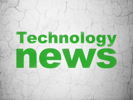 tabloid: News concept: Green Technology News on textured concrete wall background Stock Photo