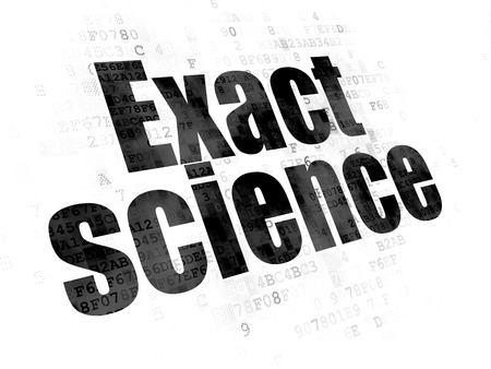 exact science: Science concept: Pixelated black text Exact Science on Digital background Stock Photo