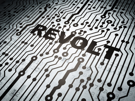 revolt: Political concept: circuit board with  word Revolt, 3D rendering Stock Photo