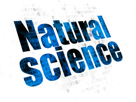 natural science: Science concept: Pixelated blue text Natural Science on Digital background Stock Photo