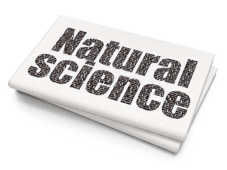 natural science: Science concept: Pixelated black text Natural Science on Blank Newspaper background, 3D rendering