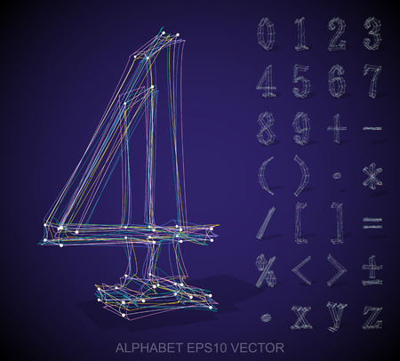 frame less: Abstract illustration of a sketched Numbers And Mathematical Symbols with reflection. 4