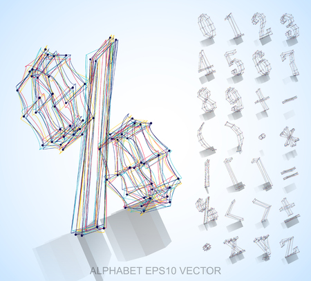 Abstract illustration of a sketched Numbers And Mathematical Symbols with reflection. %