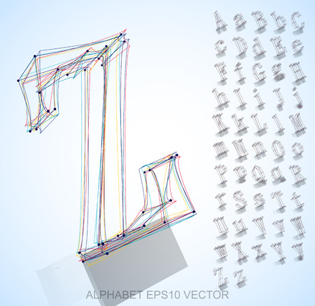 Abstract illustration of a sketched Letters with reflection. Z Illustration