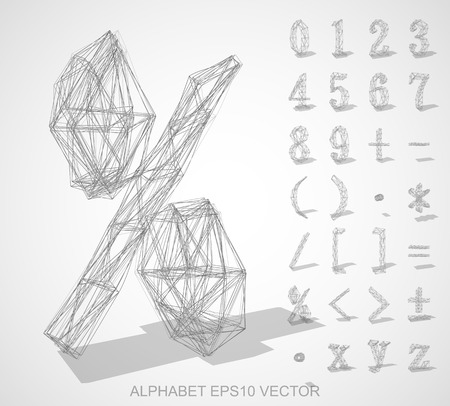 Abstract illustration of a sketched Numbers And Mathematical Symbols with transparent shadow. %