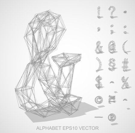 Abstract illustration of a Pencil sketched Symbols with Transparent Shadow. & Illustration