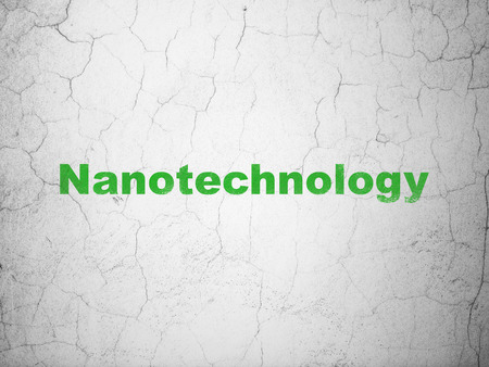 textured wall: Science concept: Green Nanotechnology on textured concrete wall background