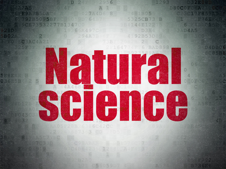natural science: Science concept: Painted red word Natural Science on Digital Data Paper background