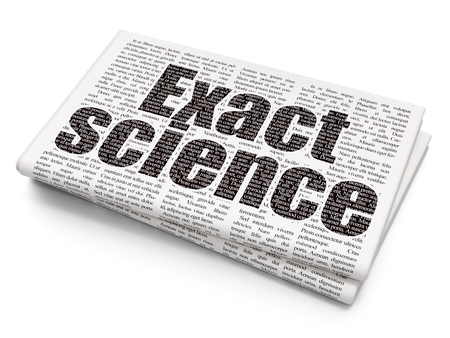 exact science: Science concept: Pixelated black text Exact Science on Newspaper background, 3D rendering