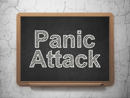 panic attack: Medicine concept: text Panic Attack on Black chalkboard on grunge wall background, 3D rendering