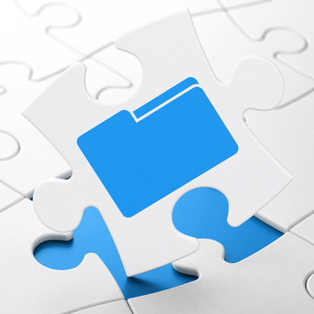 doctor money: Business concept: Folder on White puzzle pieces background, 3D rendering