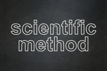 science scientific: Science concept: text Scientific Method on Black chalkboard background