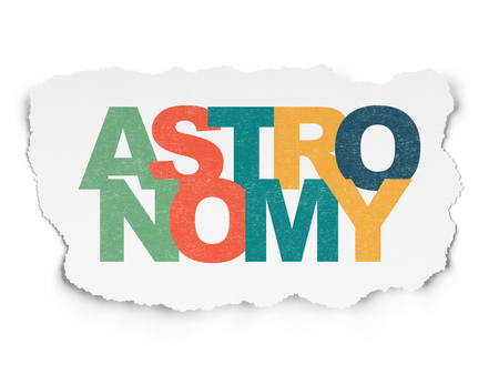 Science concept: Painted multicolor text Astronomy on Torn Paper background Stock Photo
