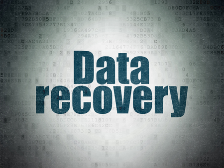 data recovery: Data concept: Painted blue word Data Recovery on Digital Data Paper background
