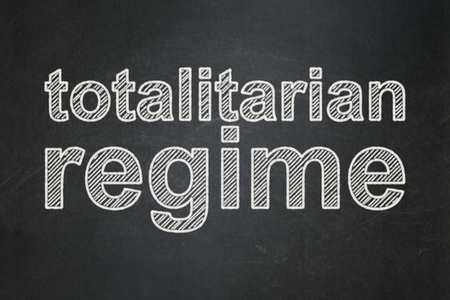 Political concept: text Totalitarian Regime on Black chalkboard background Stock Photo