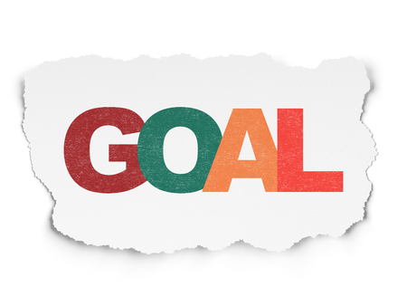 Marketing concept: Painted multicolor text Goal on Torn Paper background