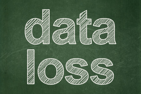Information concept: text Data Loss on Green chalkboard background Stock Photo