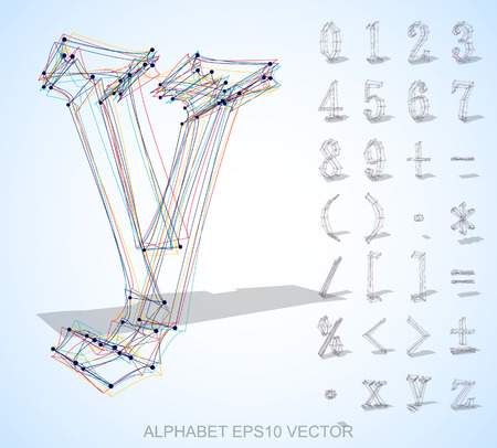 Abstract illustration of a Multicolor sketched Numbers And Mathematical Symbols with Transparent Shadow. Set of hand drawn 3D Numbers And Mathematical Symbols for your design. EPS 10 vector illustration.