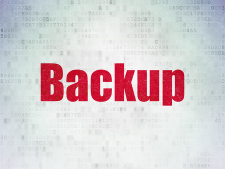 css: Programming concept: Painted red word Backup on Digital Data Paper background Stock Photo