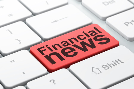 urgent announcement: News concept: computer keyboard with word Financial News, selected focus on enter button background, 3D rendering