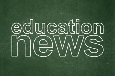 urgent announcement: News concept: text Education News on Green chalkboard background