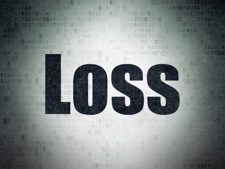 loss leader: Business concept: Painted black word Loss on Digital Data Paper background Stock Photo