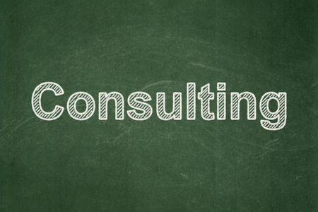Business concept: text Consulting on Green chalkboard background Banco de Imagens