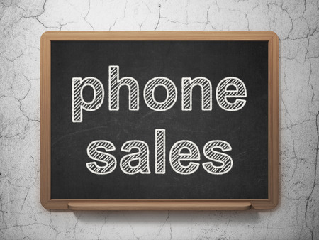 Marketing concept: text Phone Sales on Black chalkboard on grunge wall background, 3D rendering