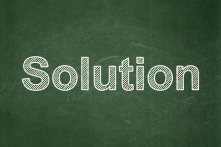 Business concept: text Solution on Green chalkboard background