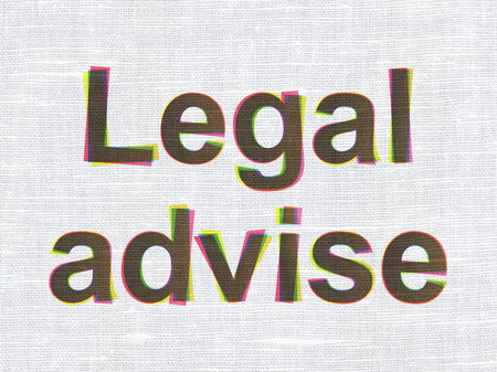 Law concept: CMYK Legal Advise on linen fabric texture background Stock Photo