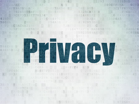 privat: Security concept: Painted blue word Privacy on Digital Data Paper background