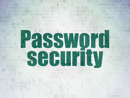 privat: Safety concept: Painted green word Password Security on Digital Data Paper background Stock Photo