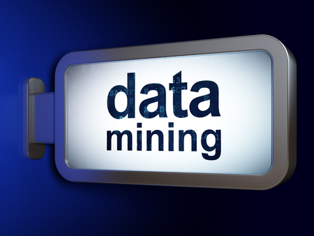 hardware: Information concept: Data Mining on advertising billboard background, 3D rendering Stock Photo