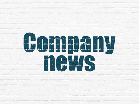 articles: News concept: Painted blue text Company News on White Brick wall background