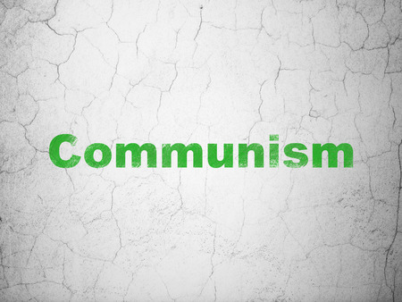 Politics concept: Green Communism on textured concrete wall background