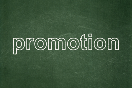 Marketing concept: text Promotion on Green chalkboard background