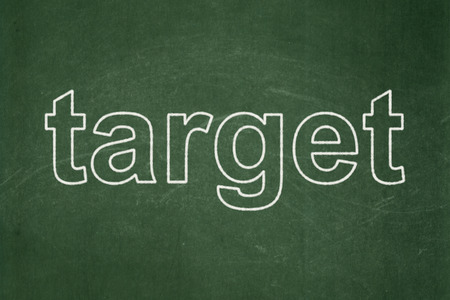 Finance concept: text Target on Green chalkboard background