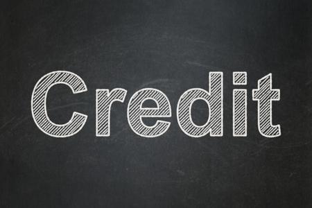 Business concept: text Credit on Black chalkboard background Banco de Imagens