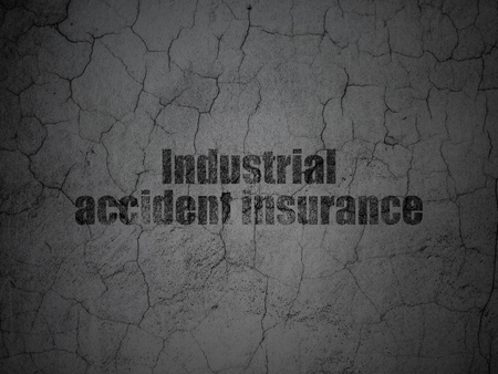 Insurance concept: Black Industrial Accident Insurance on grunge textured concrete wall background