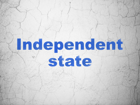 Politics concept: Blue Independent State on textured concrete wall background
