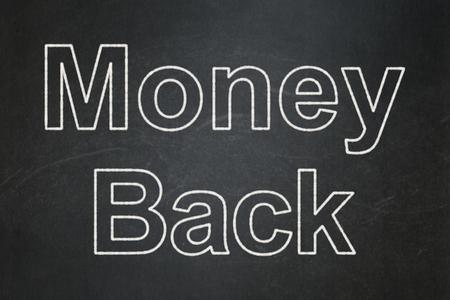 Business concept: text Money Back on Black chalkboard background Banco de Imagens