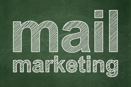 Marketing concept: text Mail Marketing on Green chalkboard background
