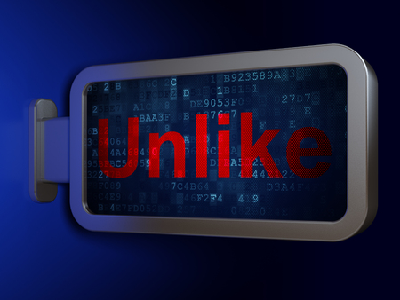 Social media concept: Unlike on advertising billboard background, 3D rendering Stock Photo