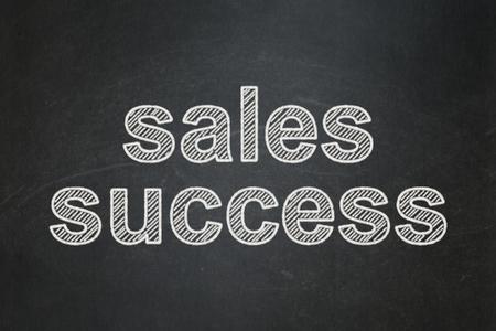 Marketing concept: text Sales Success on Black chalkboard background Banco de Imagens