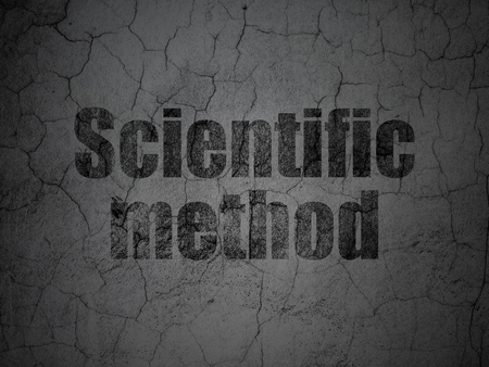 Science concept: Black Scientific Method on grunge textured concrete wall background