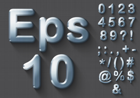 Set of polished 3D Numbers and Symbols